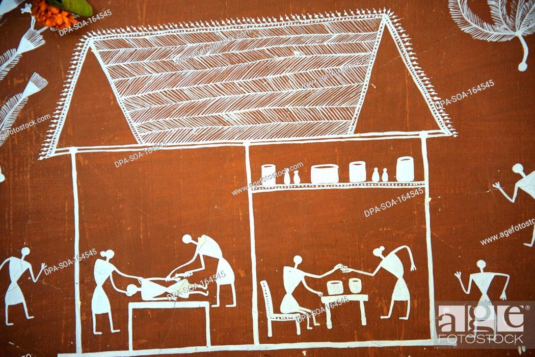 Warli painting maharashtra india stock photo picture and stock photo warli painting maharashtra india thecheapjerseys Gallery