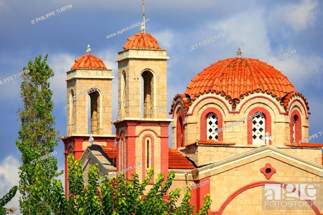 Stock Photo: Cyprus, Chlorakas, Agios Georgios church.