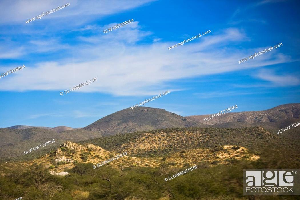 Stock Photo: Panoramic view of a landscape, San Luis Potosi, Mexico.