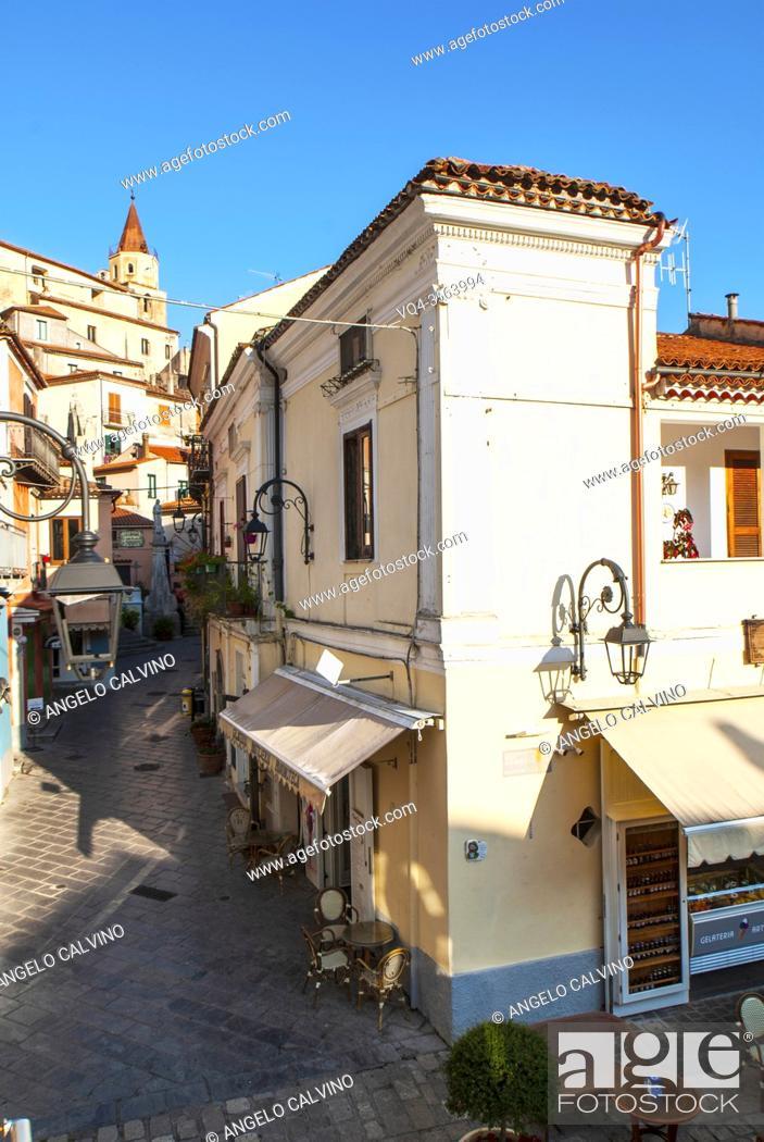 Stock Photo: Maratea streetview, Maratea, Basilicata, Italy, Europe.