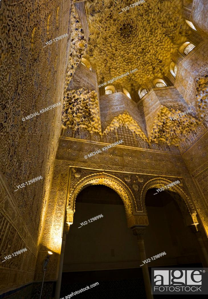 Stock Photo: Sala de los Abencerrajes in Alhambra Granada, Spain.