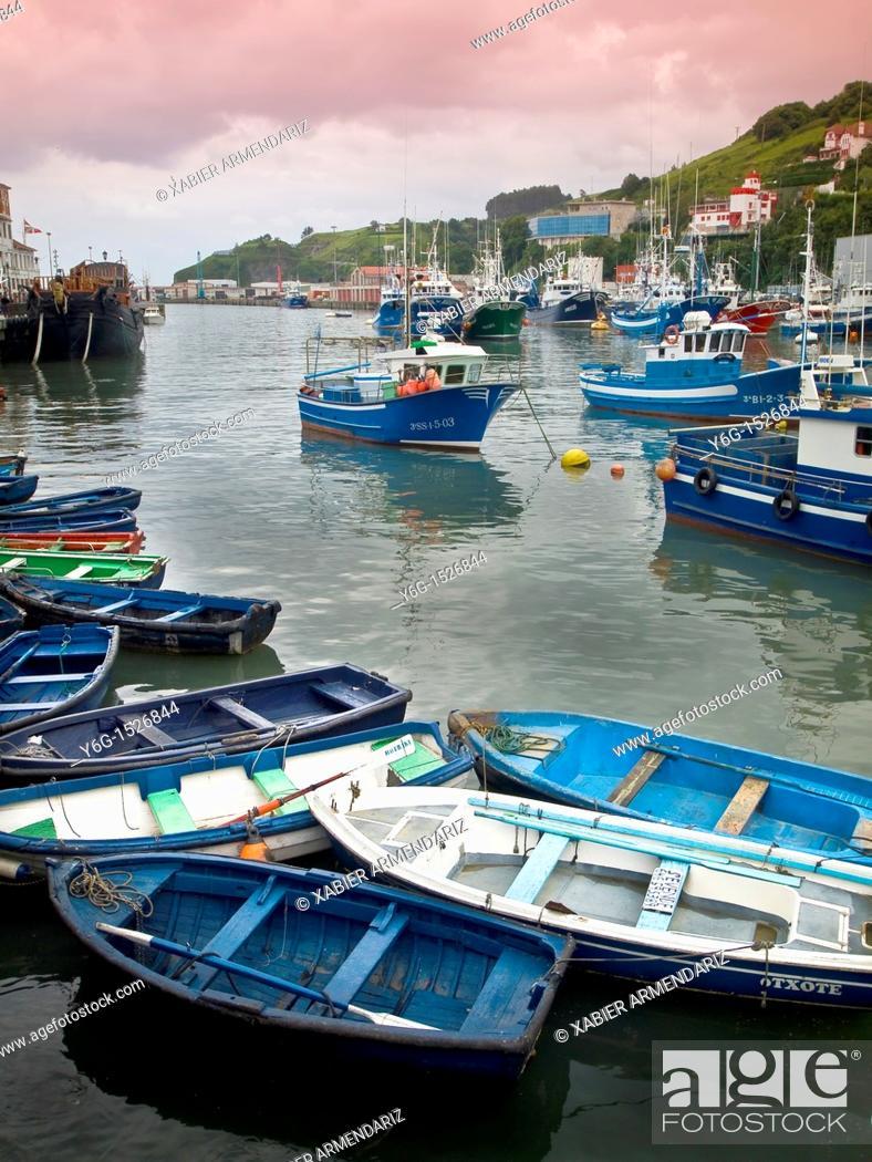 Stock Photo: fishing port of Bermeo, biscay province, Euskadi, Basque country, Spain, Europe.