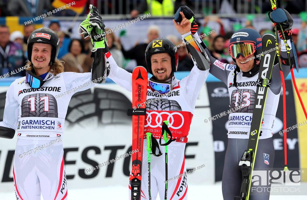 Second Placed Austrian Manuel Feller L R Winner Marcel Hirscher From Austria And American Ted Stock Photo Picture And Rights Managed Image Pic Pah 180128 99 834908 Dpai Agefotostock
