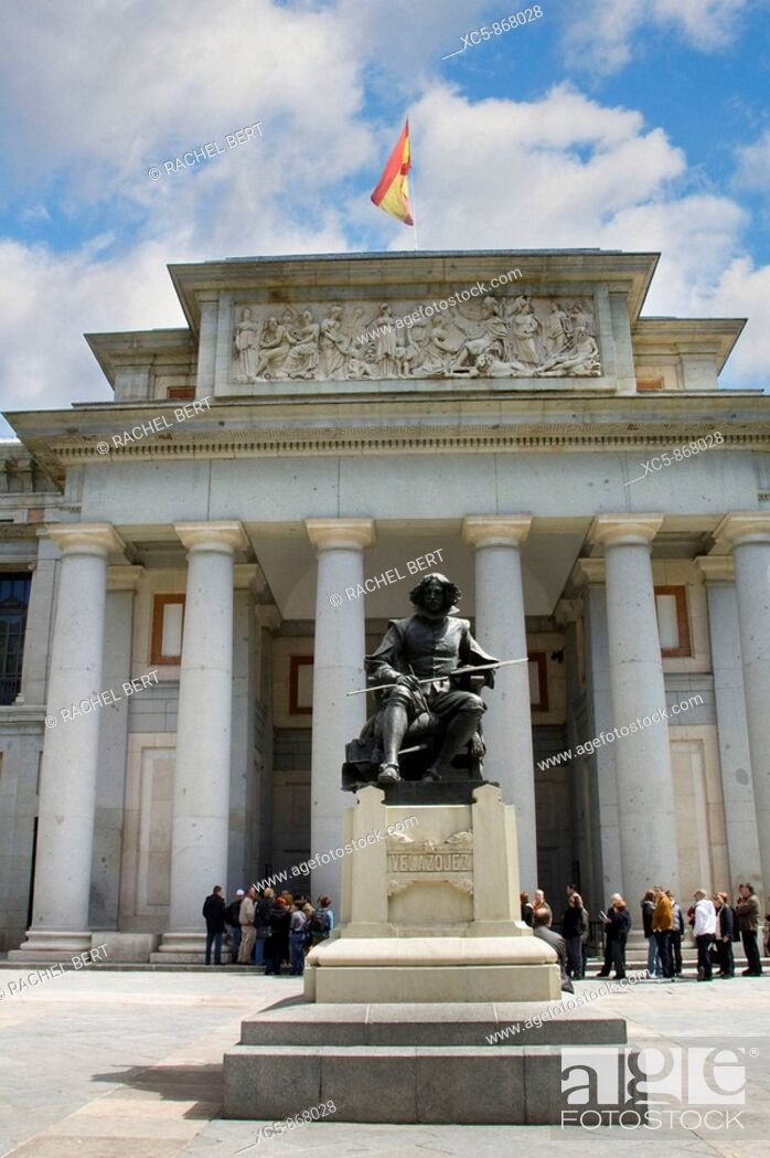 Stock Photo: Velazquez Sculpture, Prado Museum, Madrid, Spain.