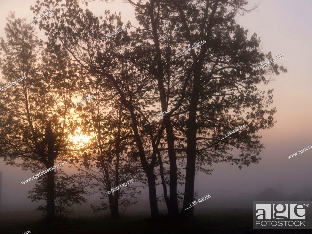 Stock Photo: Turners Falls, Massachusetts at sunrise. USA.