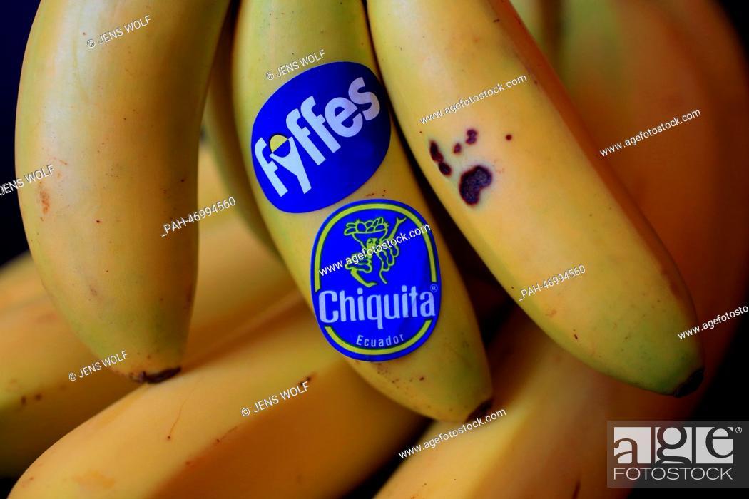 ILLUSTRATION - The lables of the US banana distributor