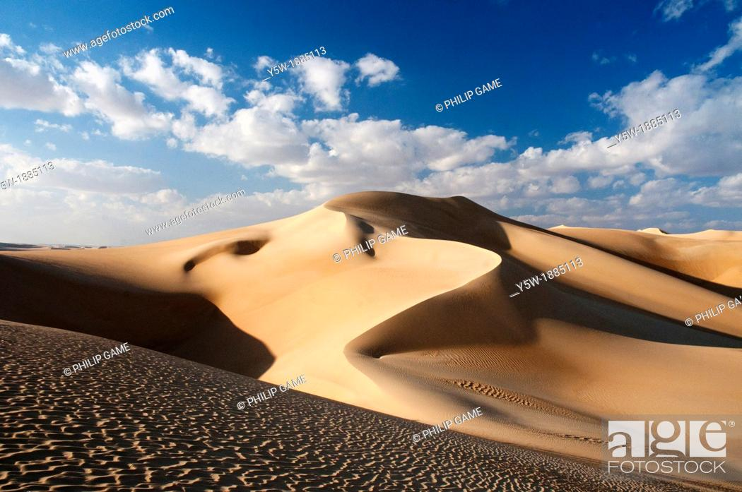 Stock Photo: Dunes of the Great Sand Sea, Siwa, Egypt.