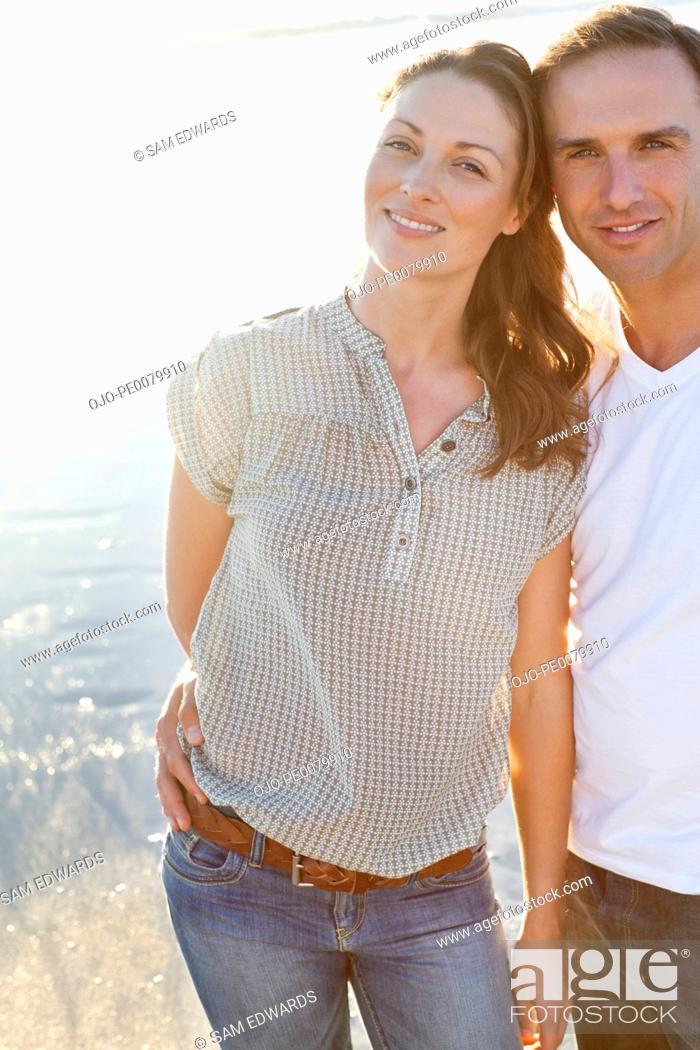 Stock Photo: Portrait of smiling couple.