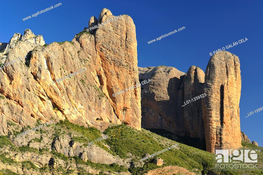 Stock Photo: Mallos de Riglos, Huesca.