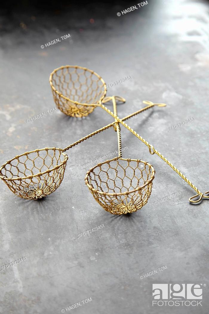 Stock Photo: Fondue baskets.