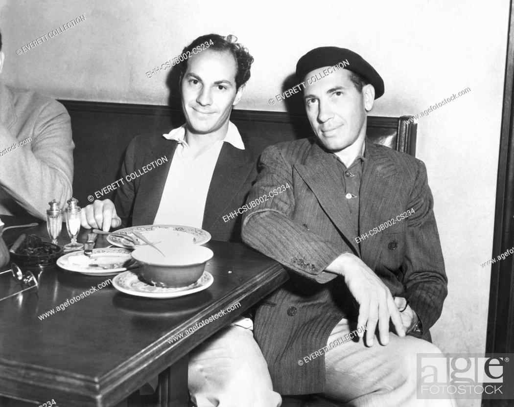 Stock Photo: Zeppo and Chico Marx at the Brown Derby, where many Hollywood film stars have lunch. August 29, 1932. (CSU-2015-11-1250).