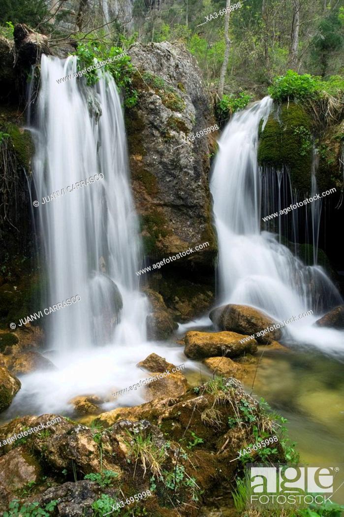 Stock Photo: Sources of Mundo river. Albacete province, Castilla-La Mancha, Spain.