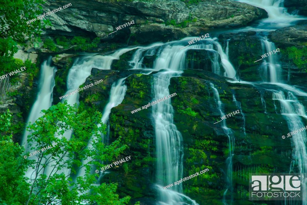 Stock Photo: Cullasaja Falls in the Nantahala National Forest in North Carolina.