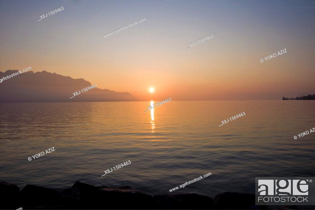 Stock Photo: Landscape, Montreux, Switzerland.