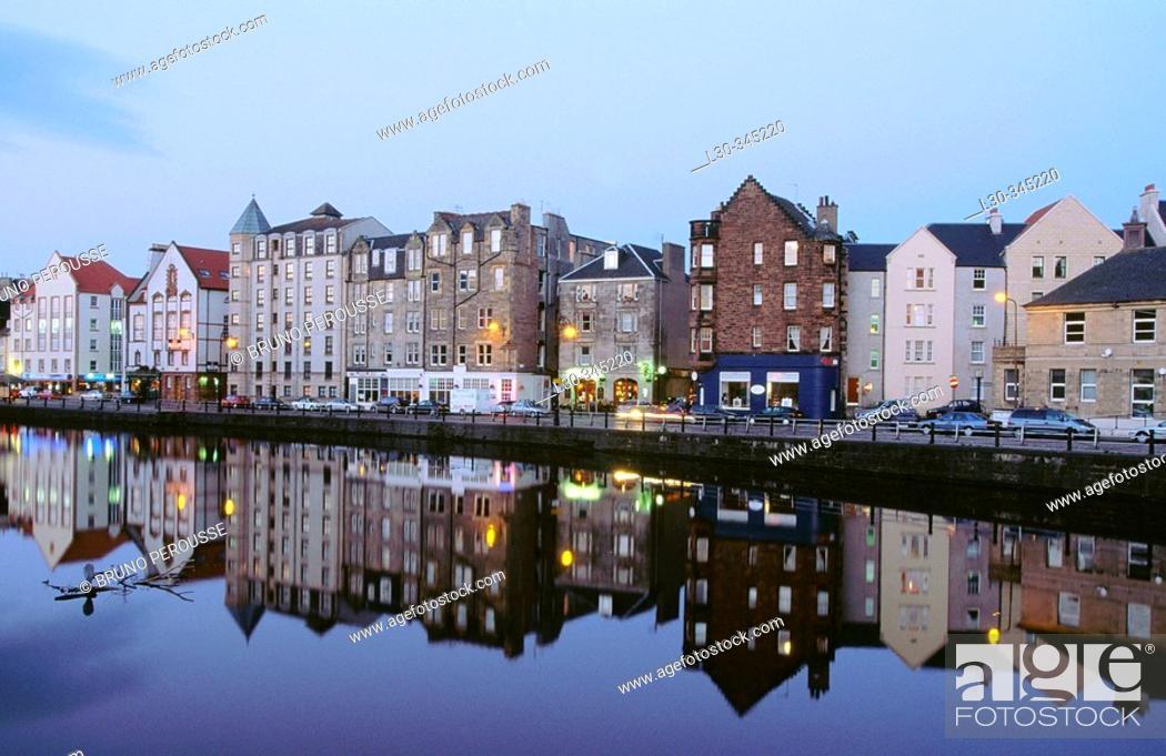 Stock Photo: Leith. Edinburgh. Scotland. UK.
