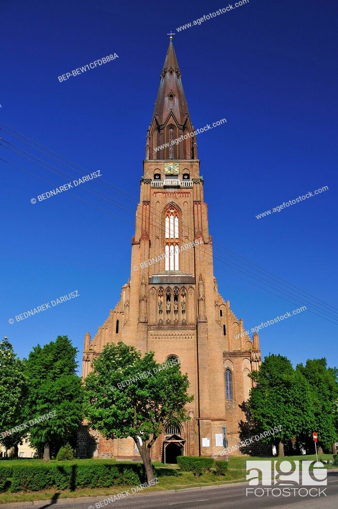 Imagen: St. Mary's Church in Chojna, West Pomeranian voivodeship, Poland. St. Mary's Church in Chojna is a monumental building located in Chojna.