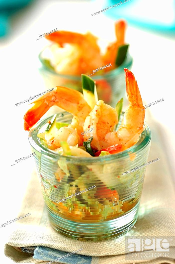 Stock Photo: Thai prawn salad.