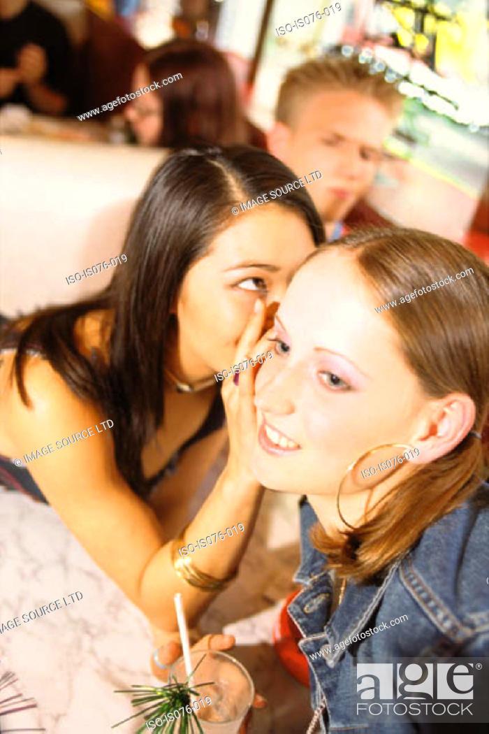 Stock Photo: Girls in bar.