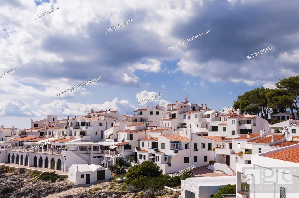 Stock Photo: The small village of Biniancolla-Punta Prima , Menorca , Balearic Islands , Spain.