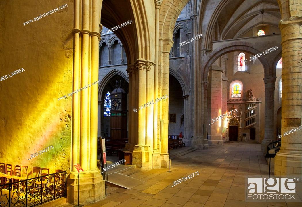 Stock Photo: Cathedral Saint Cyr and Sainte Julitte, Nevers, Nievre, Bourgogne, France, Europe.