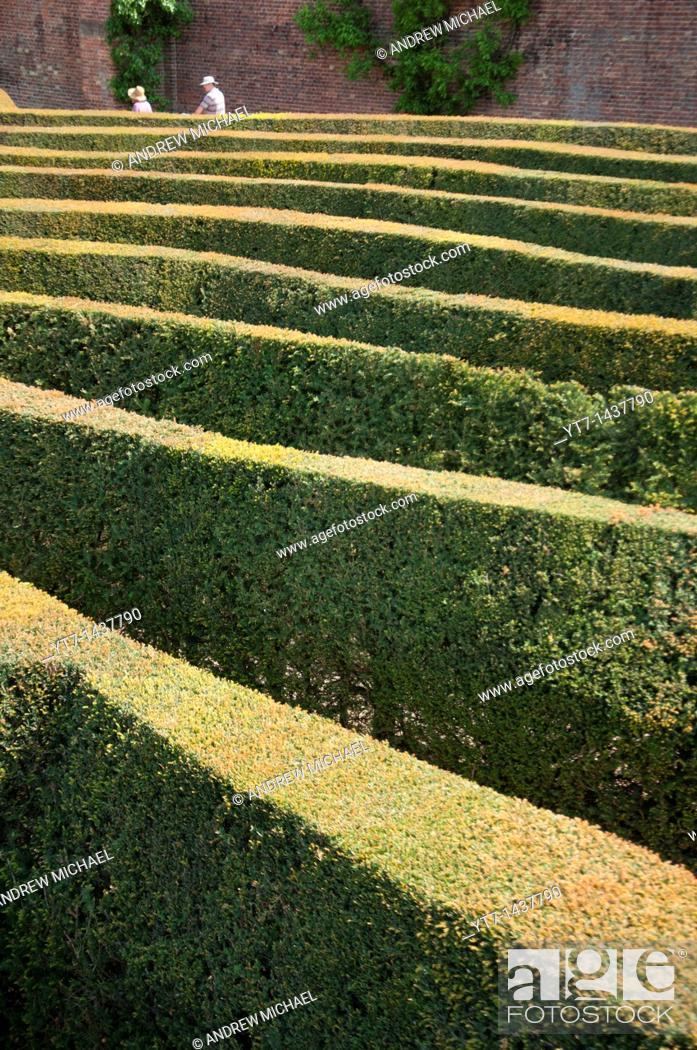 Stock Photo: Blenheim palace maze, Oxfordshire, England.