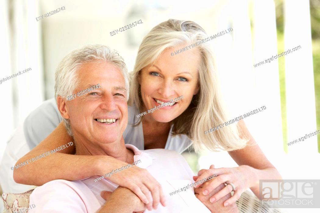 Stock Photo: Portrait Of Romantic Senior Couple.