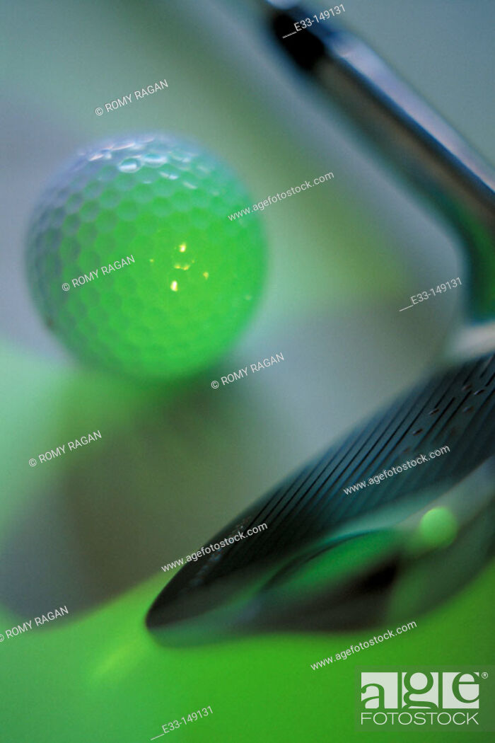 Stock Photo: Golf club and ball.