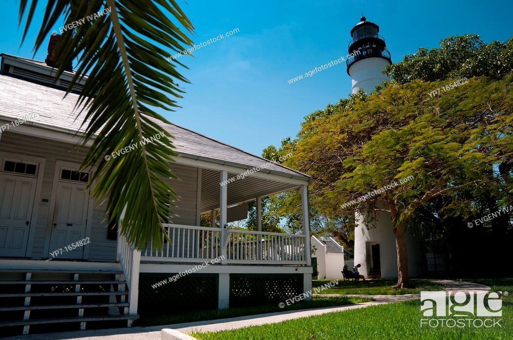 Stock Photo: Key West Light House and Keeper's Quarters Museum, Florida.