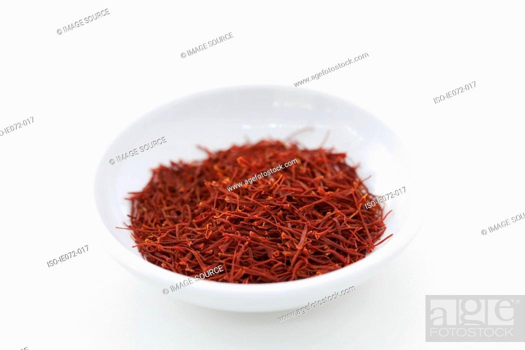 Stock Photo: Bowl of saffron.