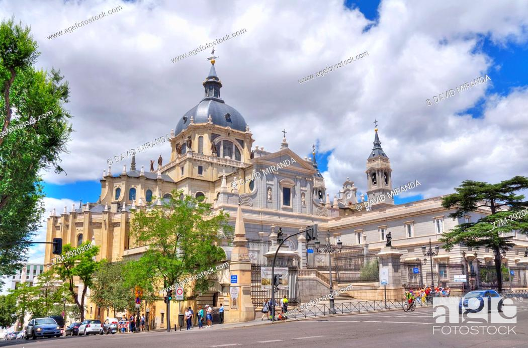 Stock Photo: Almudena Cathedral. Madrid. Spain.