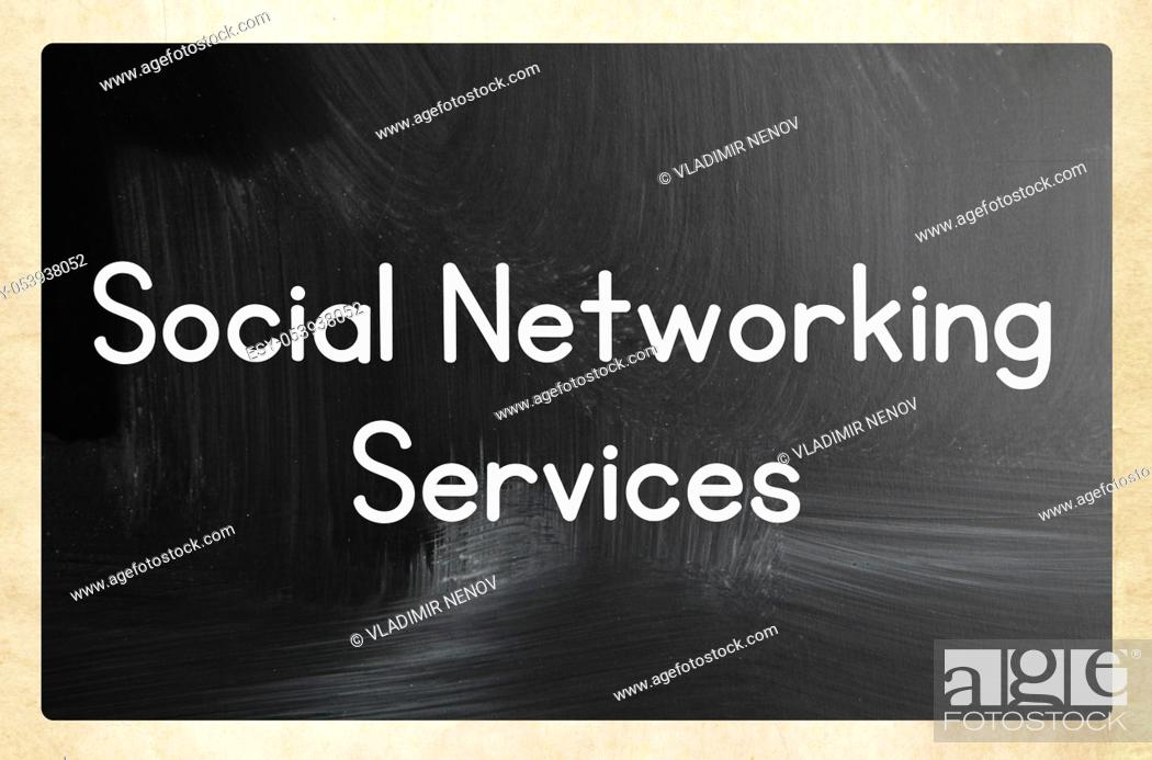 Stock Photo: social networking services.