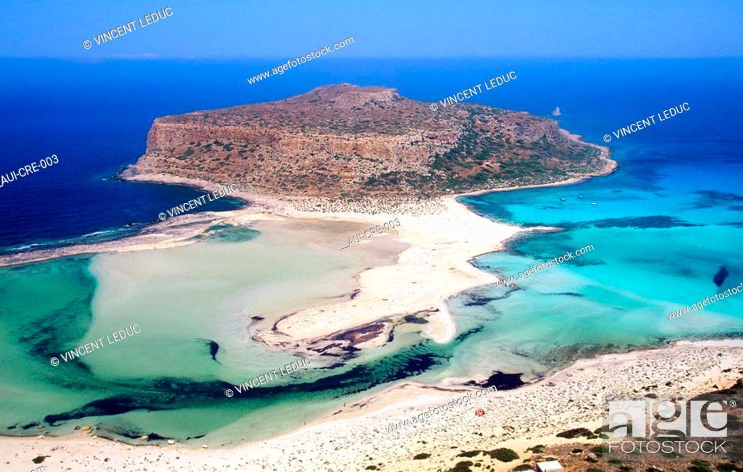 Stock Photo: Greece - Crete - Peninsula of Gramvoussa - Lagoon of Balos.