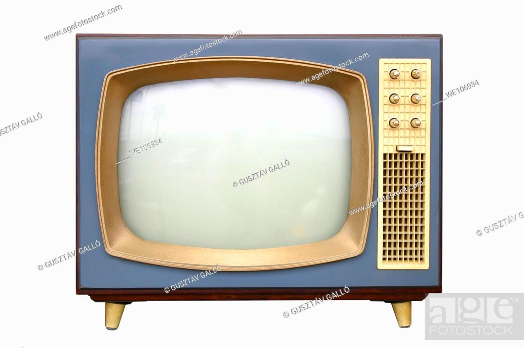 Stock Photo: television apparatus from 1950.