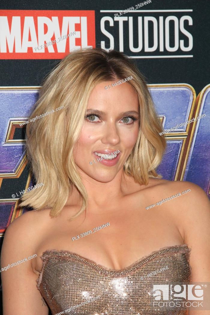 """Stock Photo: Scarlett Johansson 04/22/2019 The world premiere of Marvel Studios' """"""""Avengers: Endgame"""""""" held at The Los Angeles Convention Center in Los Angeles, CA."""