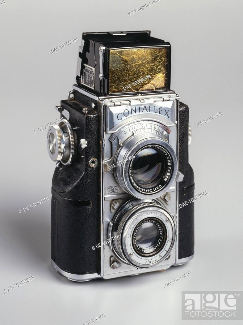 The Twin Lens reflex Contaflex camera, 35 mm, manufactured