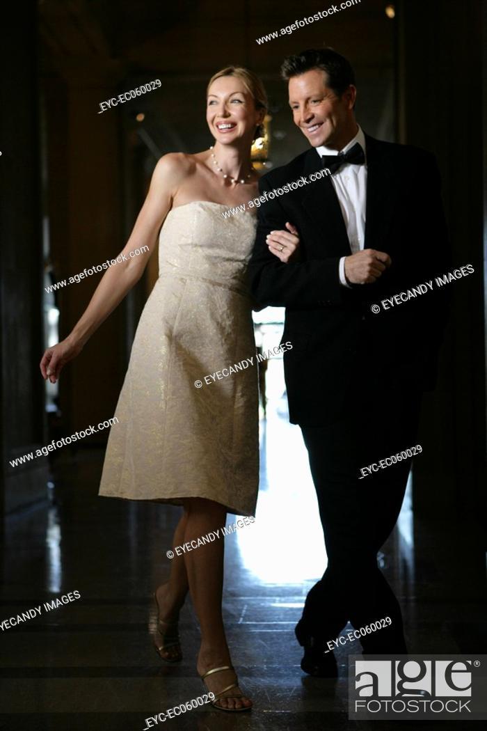 Stock Photo: Boomer couple in formal attire.