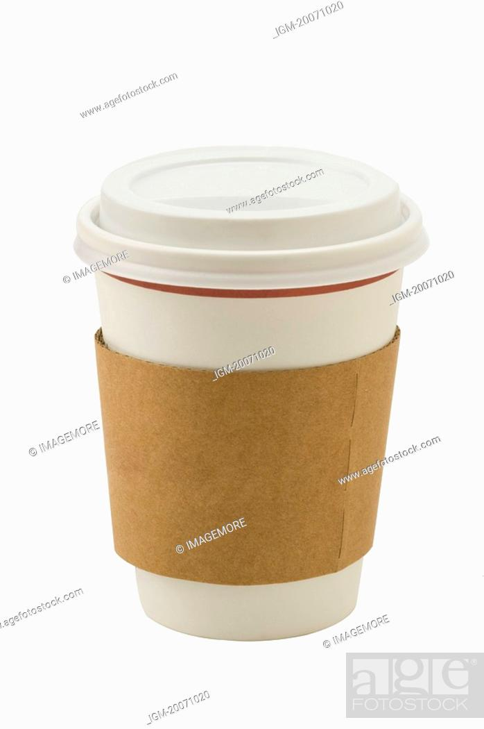 Stock Photo: A paper coffee Cup.