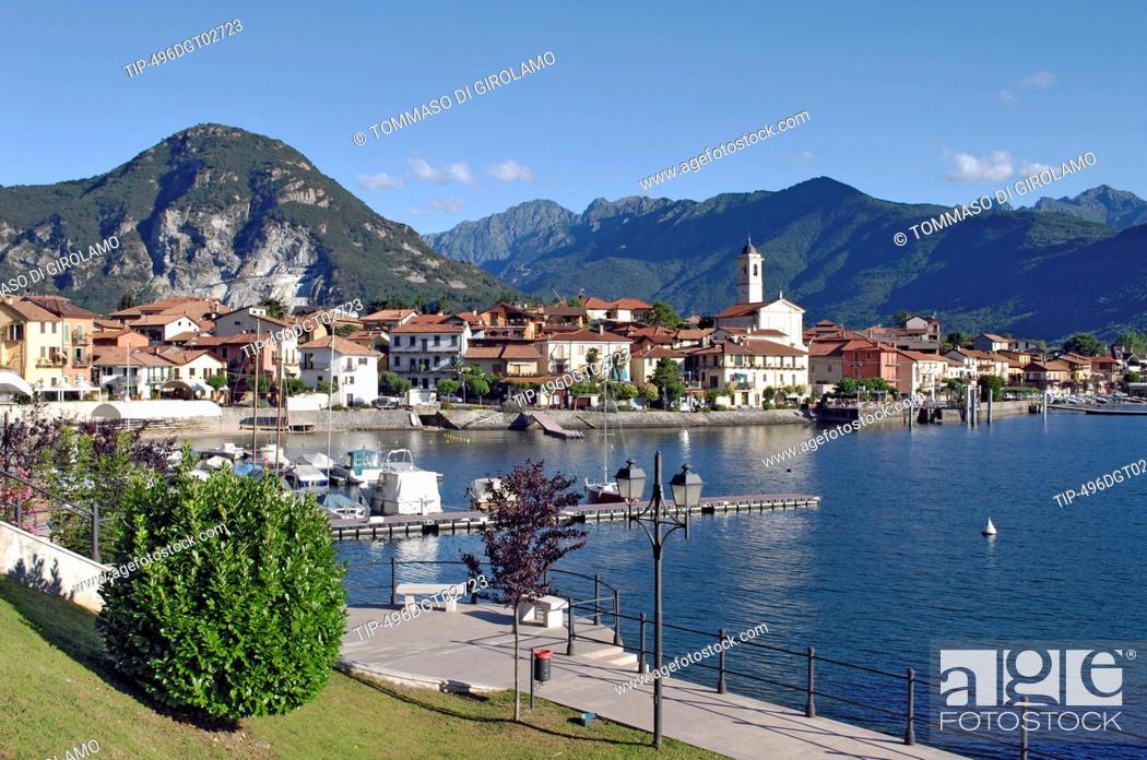Stock Photo: Italy, Piedmont, Lake Maggiore, Feriolo.