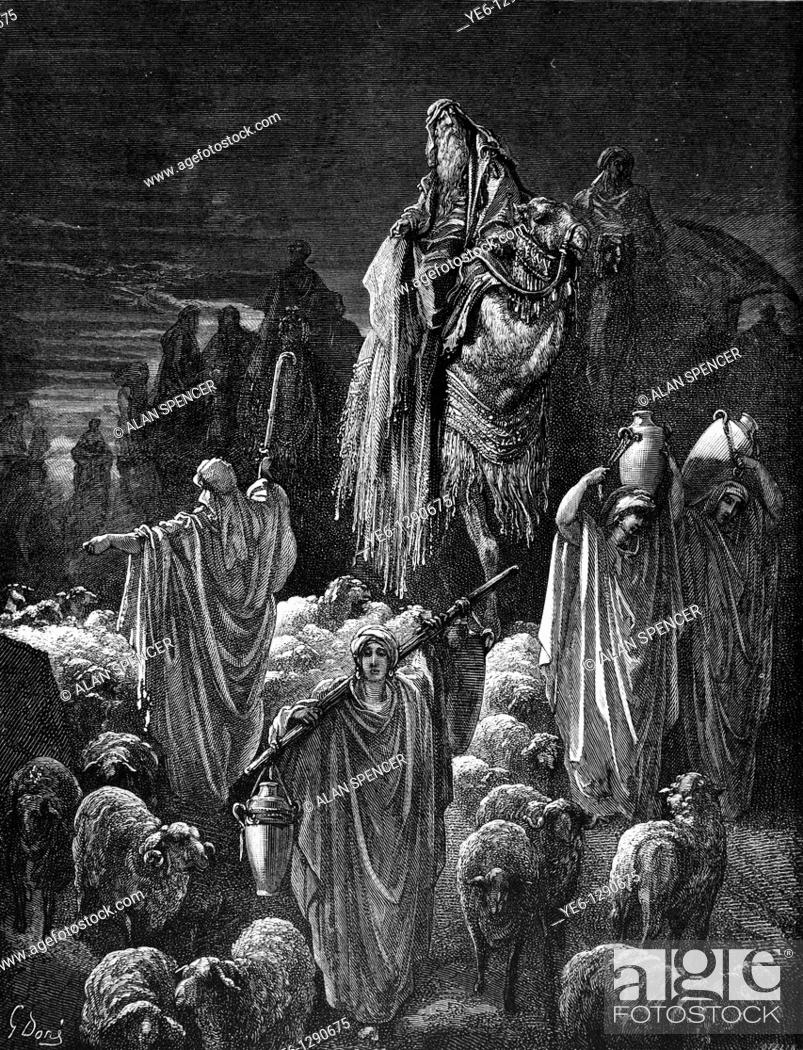 Gustave Dore Bible Stories Jacob Going Into Egypt Old Testament