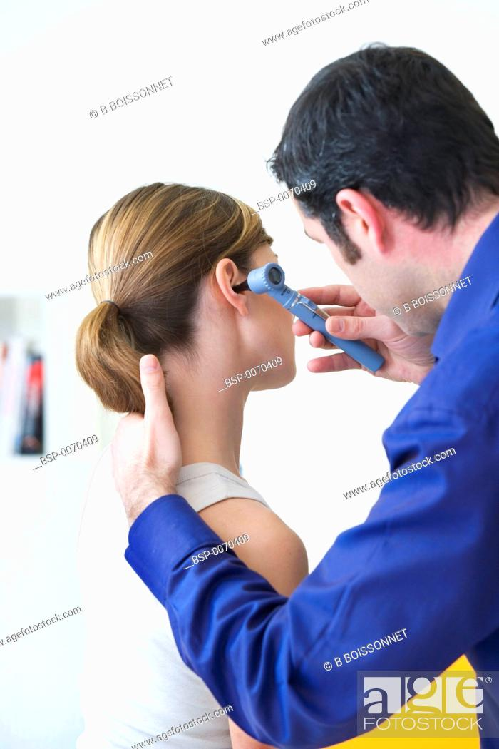 Stock Photo: EAR NOSE & THROAT, WOMAN Models.