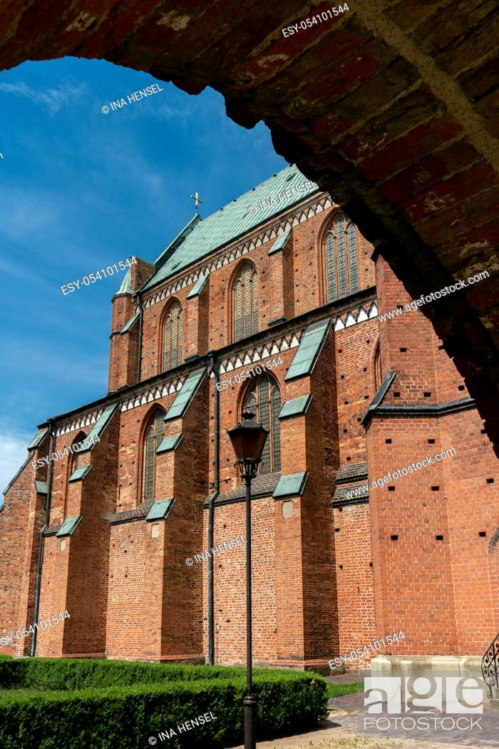 Stock Photo: partial view of the ancient Minster church in Bad Doberan Germany.