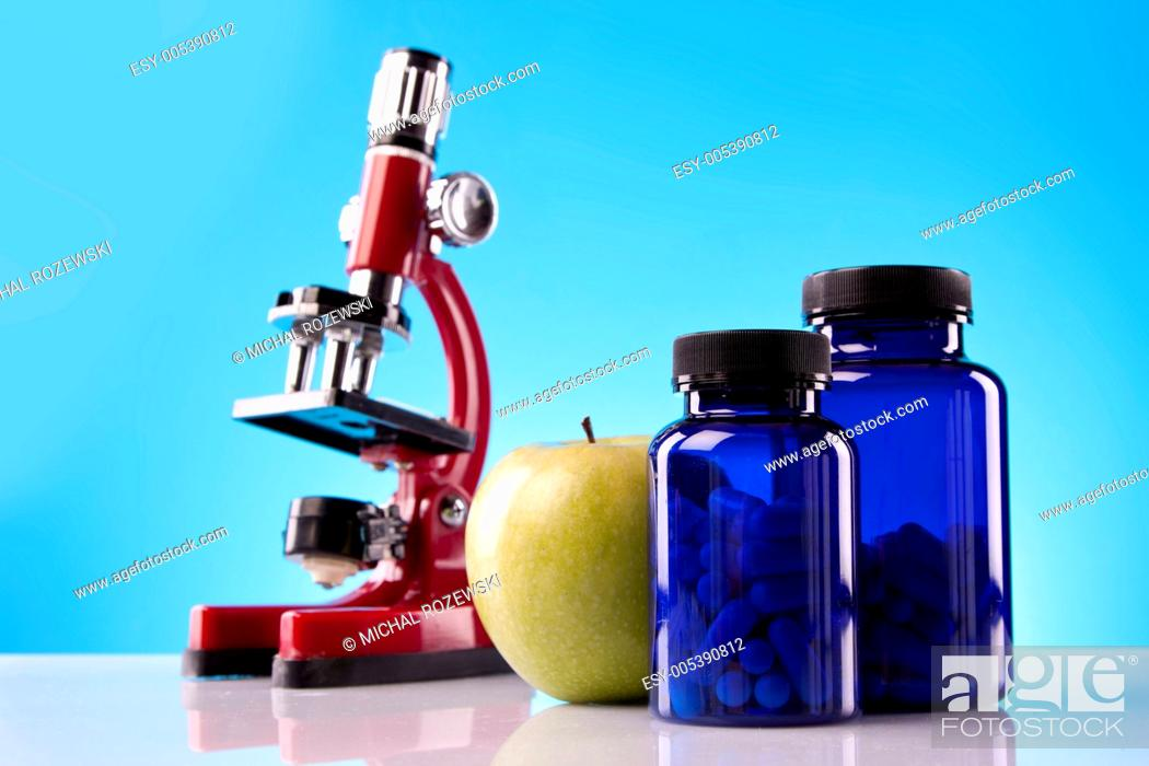 Stock Photo: Food Supplements, nutrition concept.