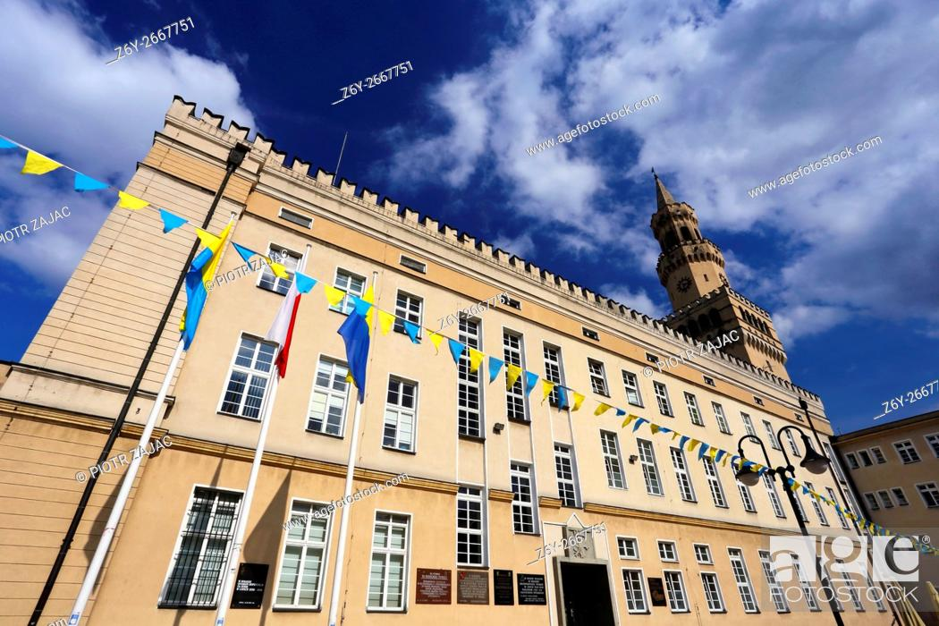 Stock Photo: The Town Hall in Opole, Poland.