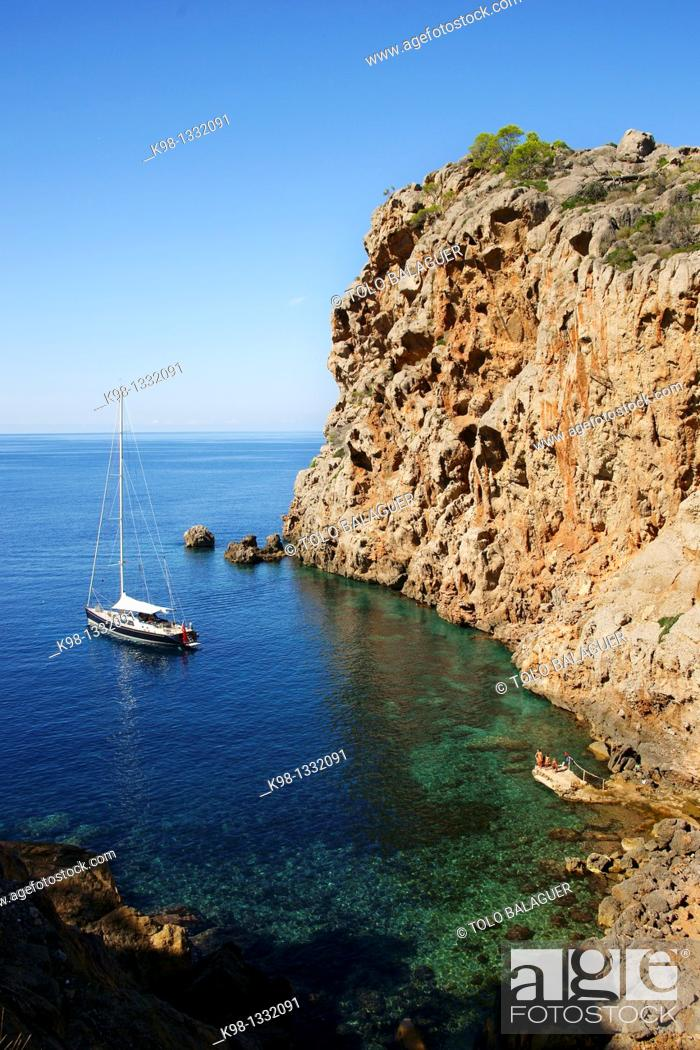 Stock Photo: Sa Foradada Deia Mallorca Tramuntana Balearic Islands Spain.