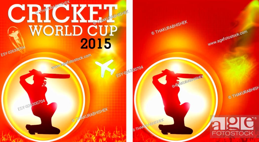 Stock Photo: two wallpaper/creatives in jpg file format.explaining the world cup 2015 cricket tour with and without text.