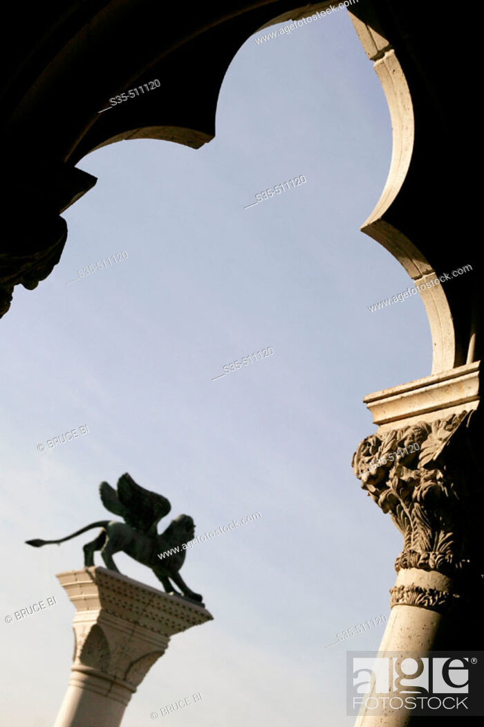 Stock Photo: The architecture details of the Venetian Hotel and Casino, Las Vegas, Nevada, USA.