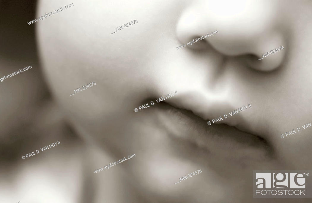 Stock Photo: Baby's mouth.