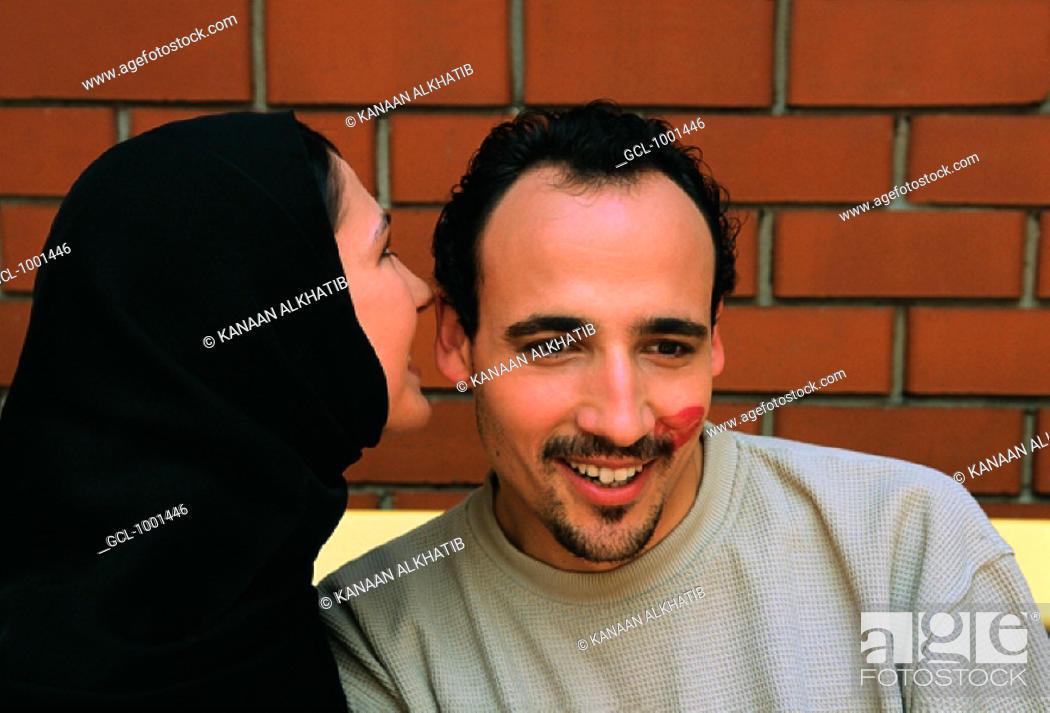Stock Photo: Couple whispering.