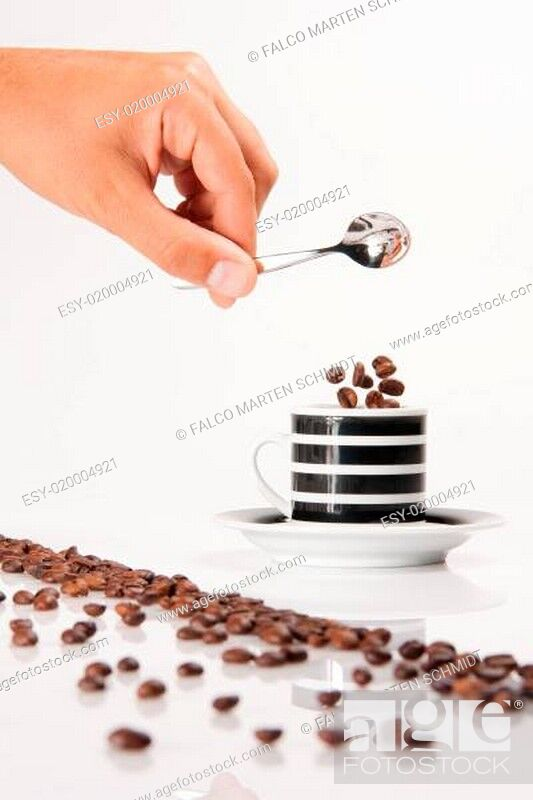 Stock Photo: Kaffeebohnen.