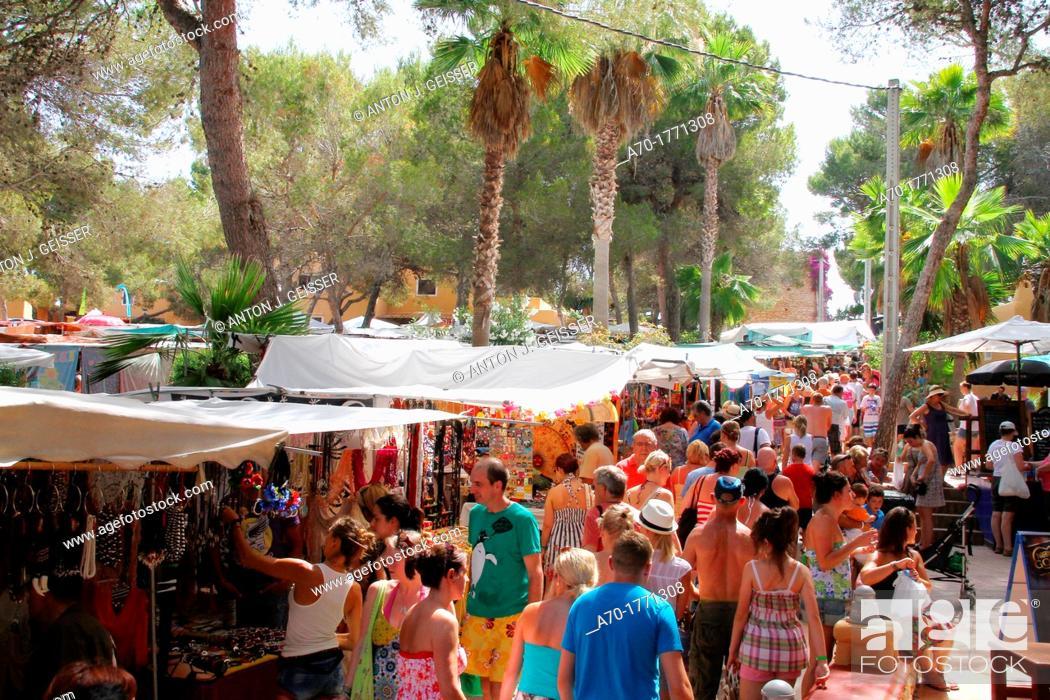 Stock Photo: Spain , balearic island , Ibiza , hippie market.